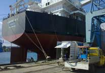 MV DIAMOND SEA PROPELLER POLISHING AND HULL INSPECTION