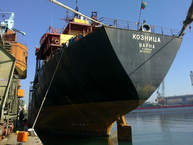MV Koznica POLISHING OF PROPELLER